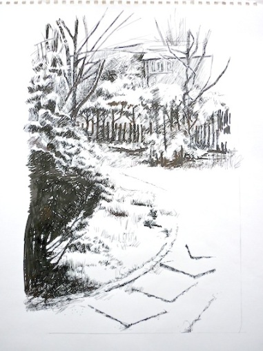 Sketch: first fall of snow