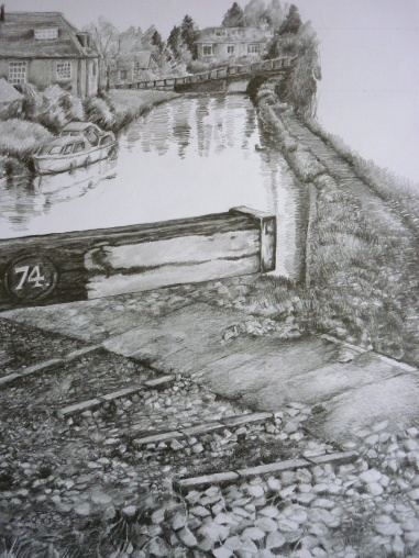 Landscape: Lock 74 Hungerford: Graphite