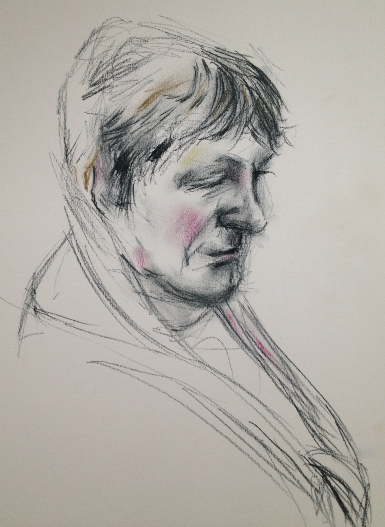 Dry chalk sketch
