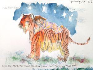 caspian tiger sketch