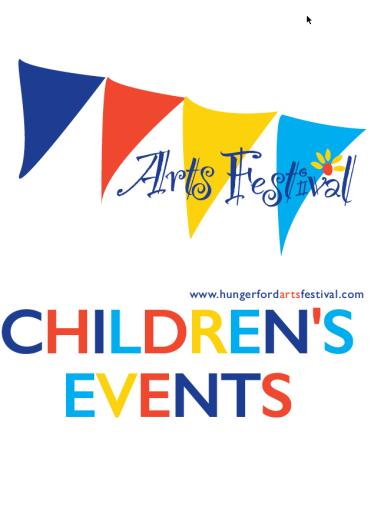 Postcard publicising children's events