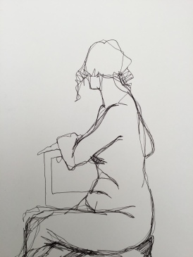 5 minute, single line drawing 02/17