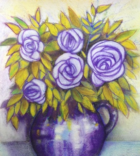 Lavender Rose, mix media