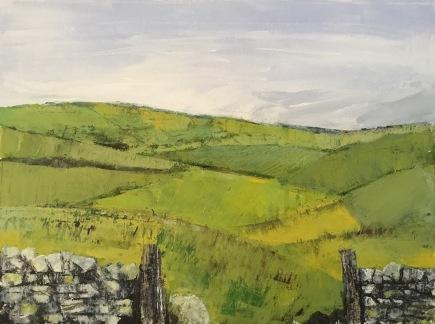 Lancashire Patchwork II, acrylics