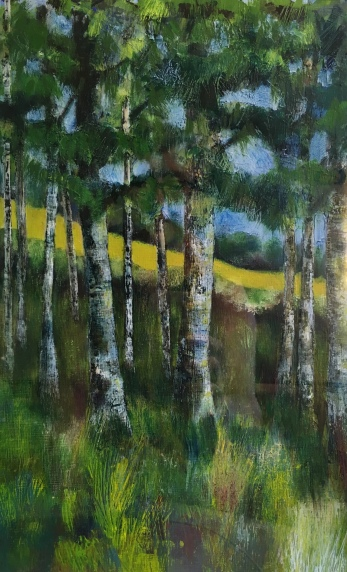 Wiltshire Vale, mix media, SOLD